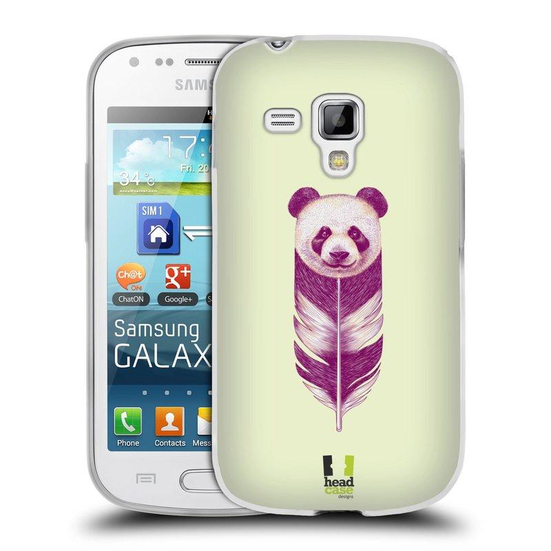 Silikonové pouzdro na mobil Samsung Galaxy S Duos HEAD CASE PÍRKO PANDA (Silikonový kryt či obal na mobilní telefon Samsung Galaxy S Duos GT-S7562)