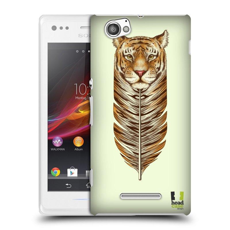 Plastové pouzdro na mobil Sony Xperia M C1905 HEAD CASE PÍRKO TYGR (Kryt či obal na mobilní telefon Sony Xperia M a M Dual)
