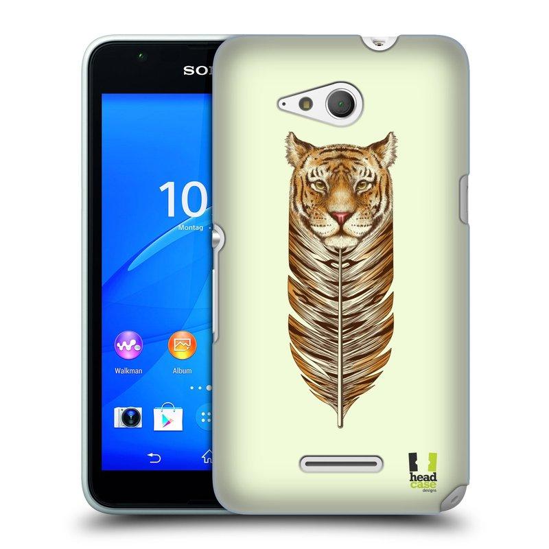 Plastové pouzdro na mobil Sony Xperia E4g E2003 HEAD CASE PÍRKO TYGR (Kryt či obal na mobilní telefon Sony Xperia E4g a E4g Dual SIM)