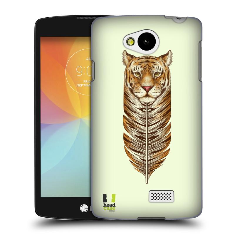 Plastové pouzdro na mobil LG F60 HEAD CASE PÍRKO TYGR (Kryt či obal na mobilní telefon LG F60 D390n)