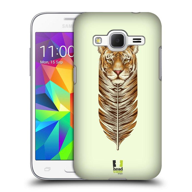 Plastové pouzdro na mobil Samsung Galaxy Core Prime LTE HEAD CASE PÍRKO TYGR (Kryt či obal na mobilní telefon Samsung Galaxy Core Prime LTE SM-G360)