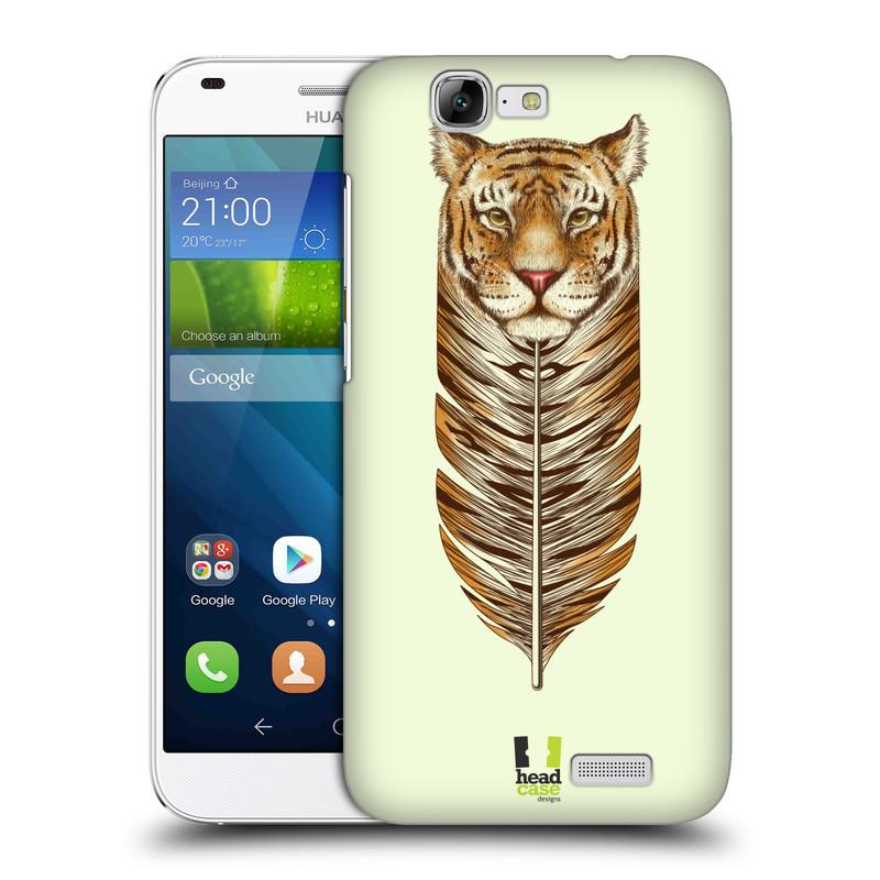 Plastové pouzdro na mobil Huawei Ascend G7 HEAD CASE PÍRKO TYGR (Kryt či obal na mobilní telefon Huawei Ascend G7)
