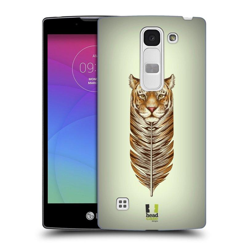 Plastové pouzdro na mobil LG Spirit LTE HEAD CASE PÍRKO TYGR (Kryt či obal na mobilní telefon LG Spirit H420 a LG Spirit LTE H440N)