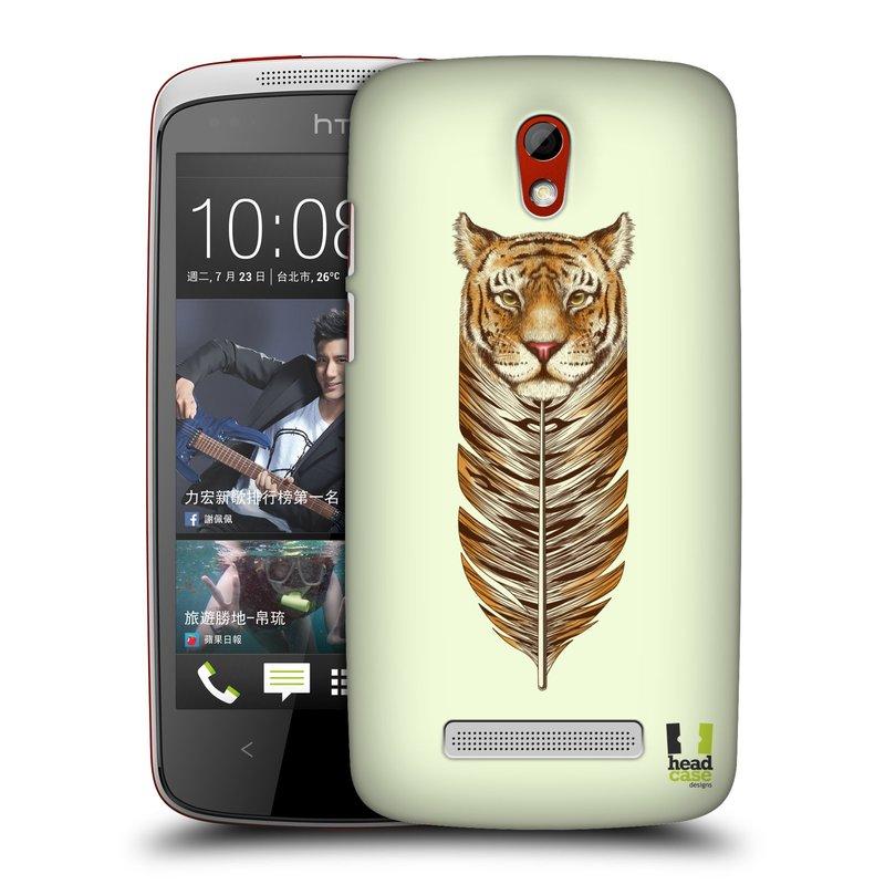 Plastové pouzdro na mobil HTC Desire 500 HEAD CASE PÍRKO TYGR (Kryt či obal na mobilní telefon HTC Desire 500)