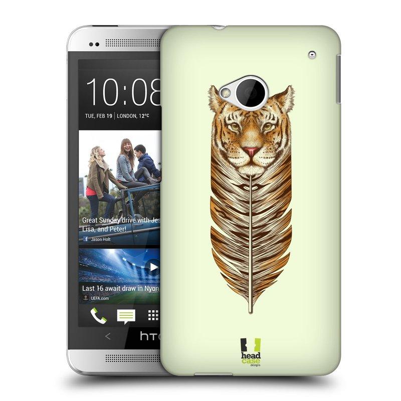 Plastové pouzdro na mobil HTC ONE M7 HEAD CASE PÍRKO TYGR (Kryt či obal na mobilní telefon HTC ONE M7)