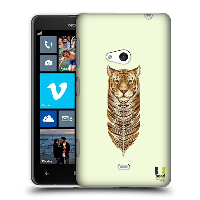 Plastové pouzdro na mobil Nokia Lumia 625 HEAD CASE PÍRKO TYGR (Kryt či obal na mobilní telefon Nokia Lumia 625)