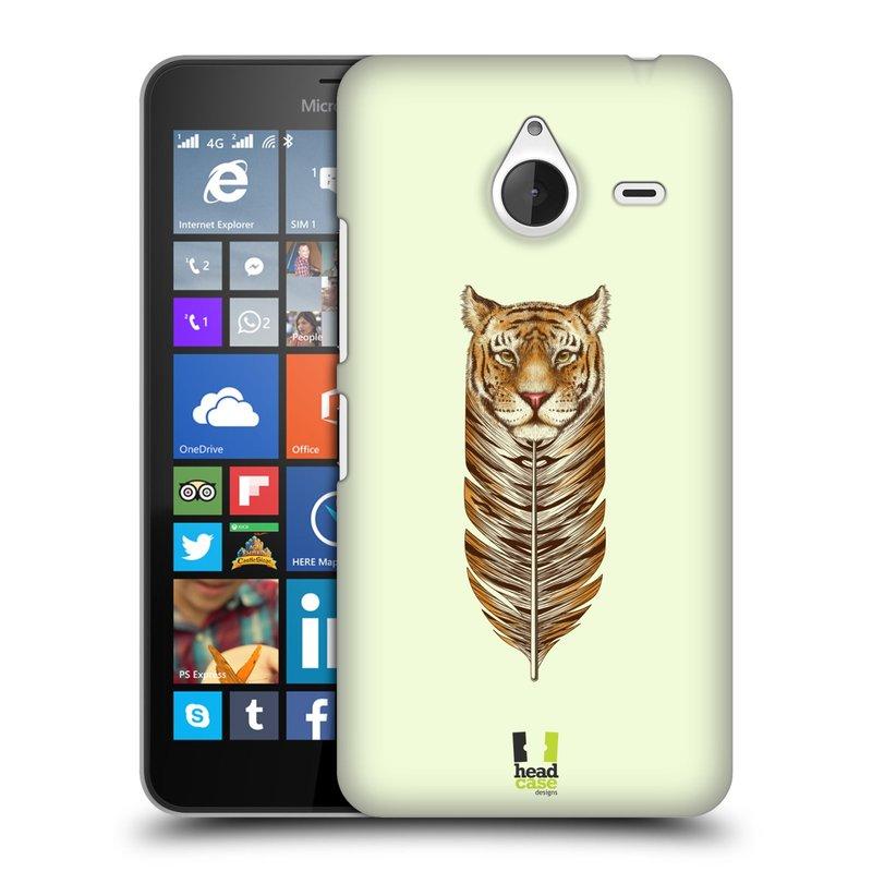 Plastové pouzdro na mobil Microsoft Lumia 640 XL HEAD CASE PÍRKO TYGR (Kryt či obal na mobilní telefon Microsoft Lumia 640 XL)