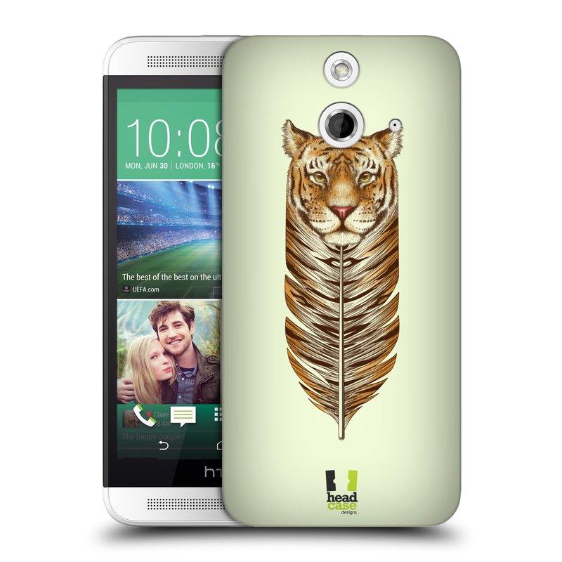 Plastové pouzdro na mobil HTC ONE E8 HEAD CASE PÍRKO TYGR (Kryt či obal na mobilní telefon HTC ONE E8)
