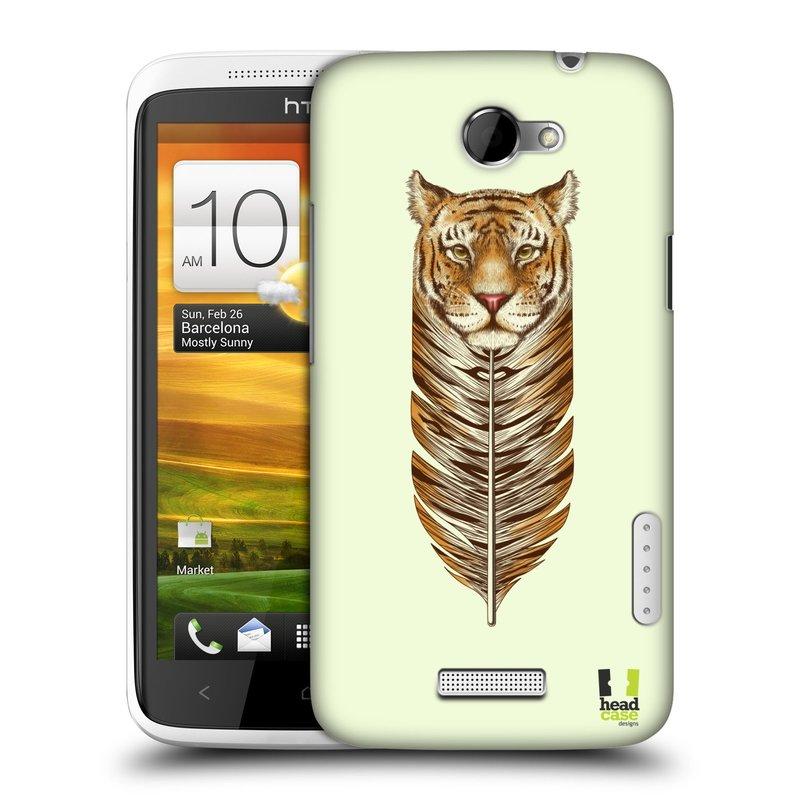 Plastové pouzdro na mobil HTC ONE X HEAD CASE PÍRKO TYGR (Kryt či obal na mobilní telefon HTC ONE X)
