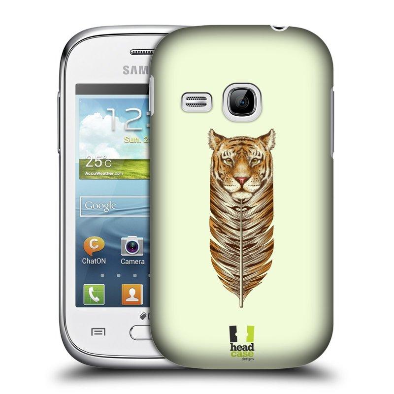 Plastové pouzdro na mobil Samsung Galaxy Young HEAD CASE PÍRKO TYGR (Kryt či obal na mobilní telefon Samsung Galaxy Young GT-S6310)