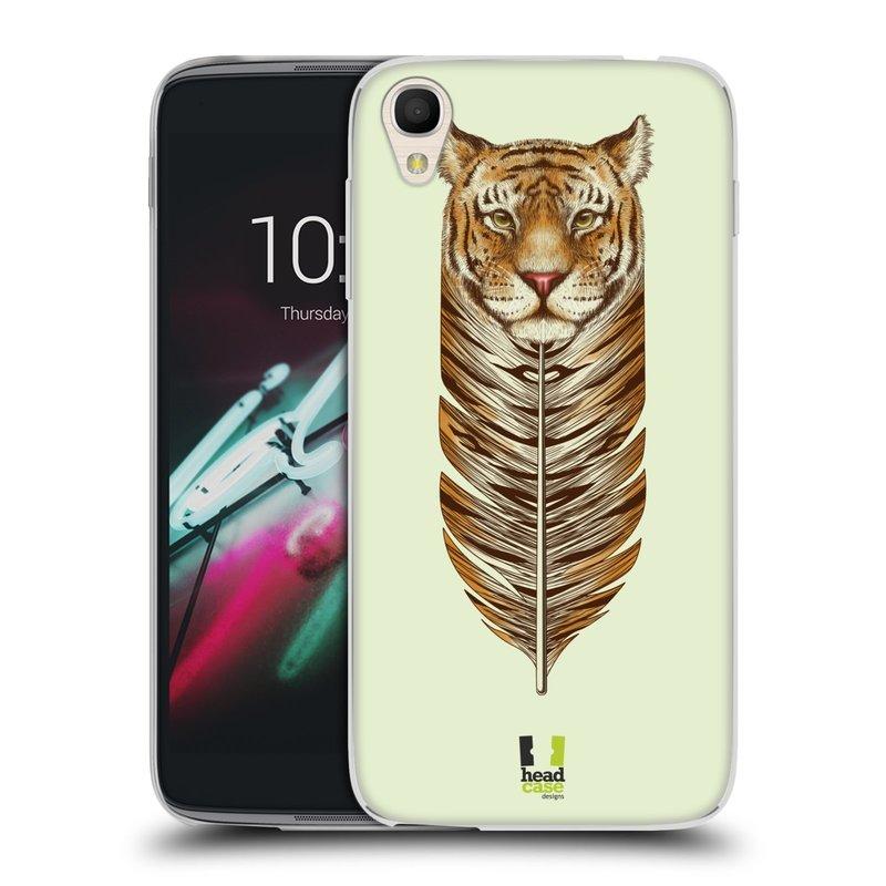 "Silikonové pouzdro na mobil Alcatel One Touch 6039Y Idol 3 HEAD CASE PÍRKO TYGR (Silikonový kryt či obal na mobilní telefon Alcatel One Touch Idol 3 OT-6039Y s 4,7"" displejem)"