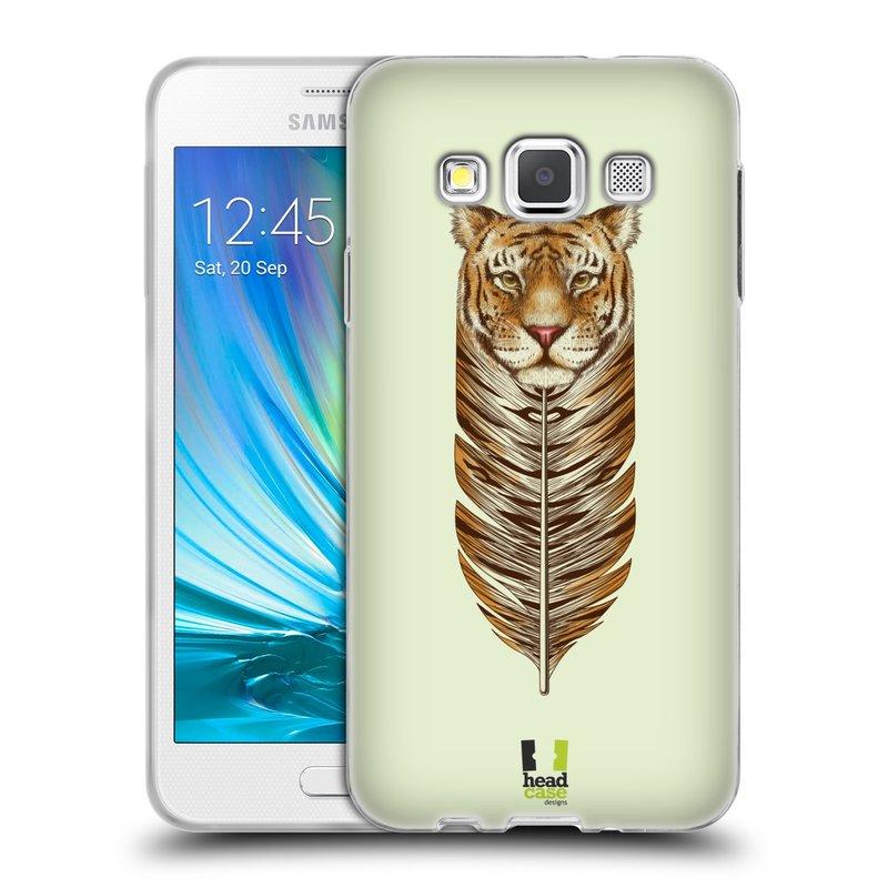 Silikonové pouzdro na mobil Samsung Galaxy A3 HEAD CASE PÍRKO TYGR (Silikonový kryt či obal na mobilní telefon Samsung Galaxy A3 SM-A300)
