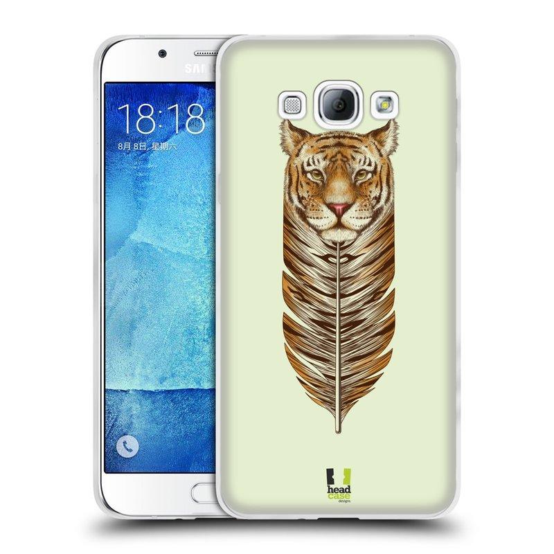 Silikonové pouzdro na mobil Samsung Galaxy A8 HEAD CASE PÍRKO TYGR (Silikonový kryt či obal na mobilní telefon Samsung Galaxy A8 SM-A800)