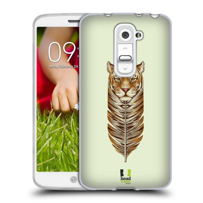 Silikonové pouzdro na mobil LG G2 Mini HEAD CASE PÍRKO TYGR (Silikonový kryt či obal na mobilní telefon LG G2 Mini D620)