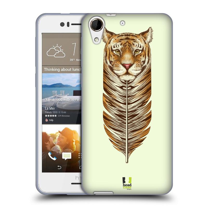 Silikonové pouzdro na mobil HTC Desire 728G Dual SIM HEAD CASE PÍRKO TYGR (Silikonový kryt či obal na mobilní telefon HTC Desire 728 G Dual SIM)
