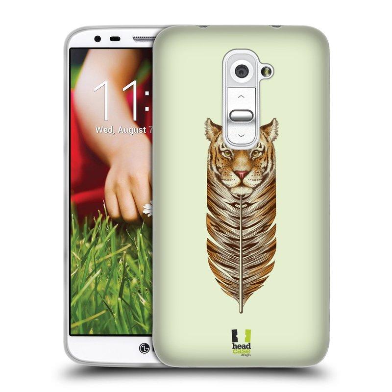 Silikonové pouzdro na mobil LG G2 HEAD CASE PÍRKO TYGR (Silikonový kryt či obal na mobilní telefon LG G2 D802)