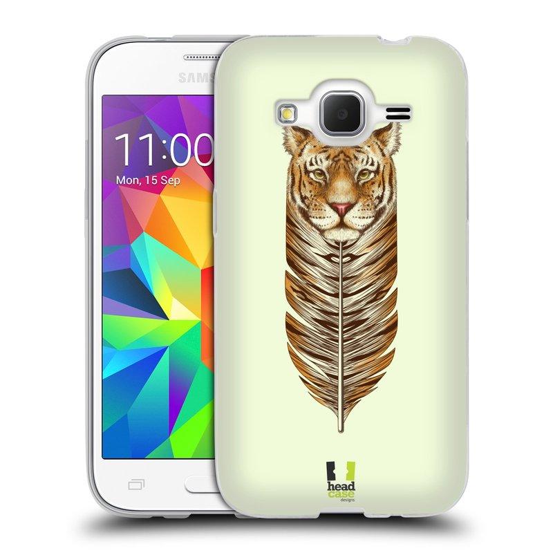 Silikonové pouzdro na mobil Samsung Galaxy Core Prime LTE HEAD CASE PÍRKO TYGR (Silikonový kryt či obal na mobilní telefon Samsung Galaxy Core Prime LTE SM-G360)