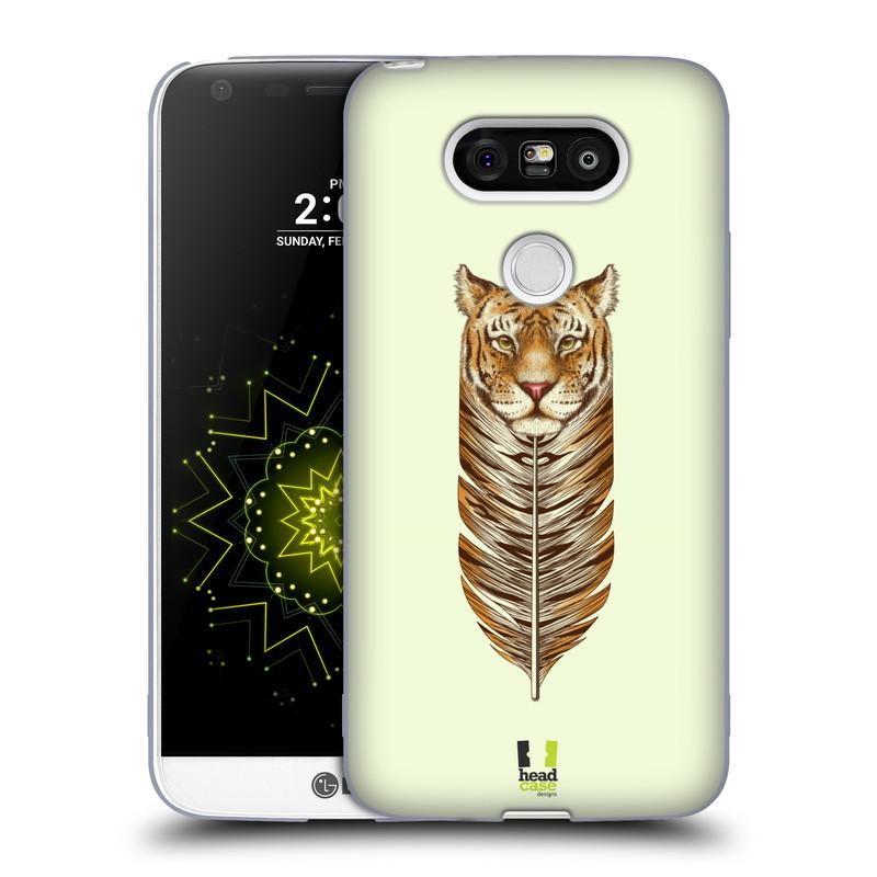 Silikonové pouzdro na mobil LG G5 HEAD CASE PÍRKO TYGR (Silikonový kryt či obal na mobilní telefon LG G5 H850)