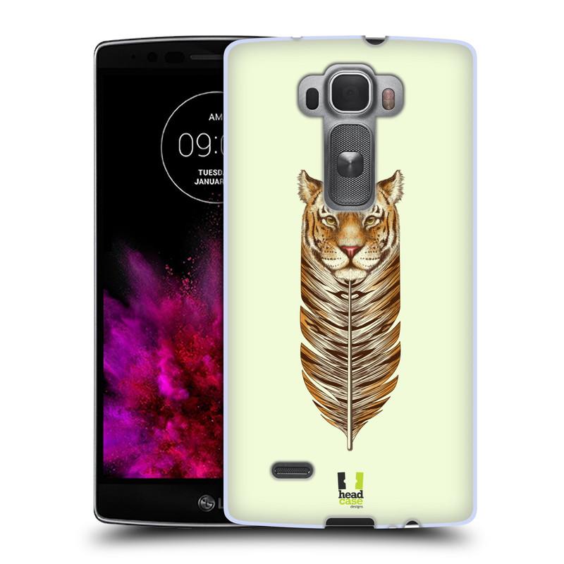 Silikonové pouzdro na mobil LG G Flex 2 HEAD CASE PÍRKO TYGR (Silikonový kryt či obal na mobilní telefon LG G Flex 2 H955)