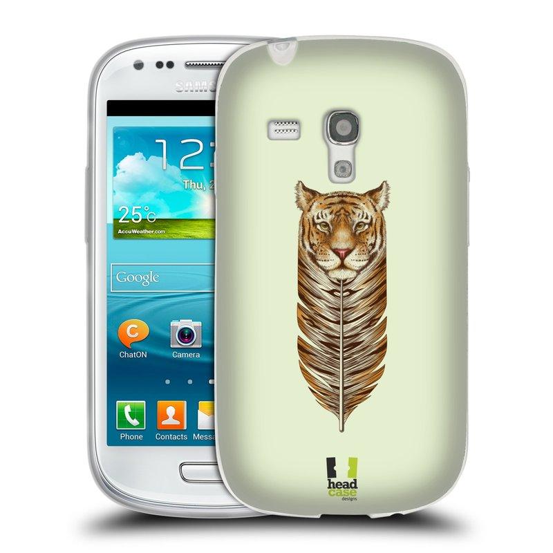 Silikonové pouzdro na mobil Samsung Galaxy S III Mini HEAD CASE PÍRKO TYGR (Silikonový kryt či obal na mobilní telefon Samsung Galaxy S III Mini GT-i8190)