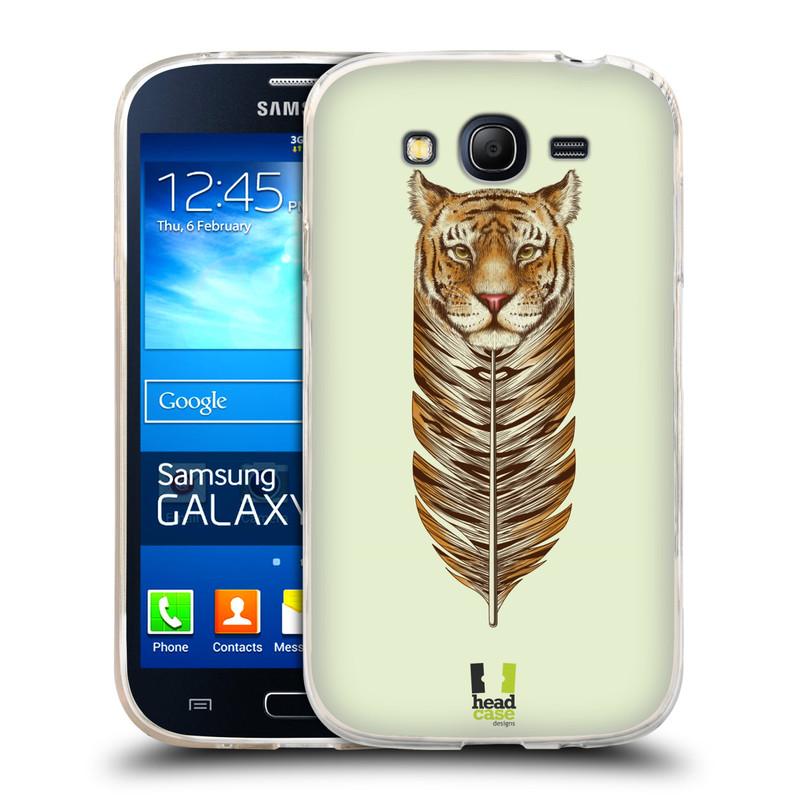 Silikonové pouzdro na mobil Samsung Galaxy Grand Neo HEAD CASE PÍRKO TYGR (Silikonový kryt či obal na mobilní telefon Samsung Galaxy Grand Neo GT-I9060)