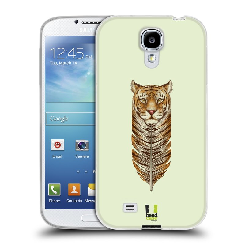 Silikonové pouzdro na mobil Samsung Galaxy S4 HEAD CASE PÍRKO TYGR (Silikonový kryt či obal na mobilní telefon Samsung Galaxy S4 GT-i9505 / i9500)