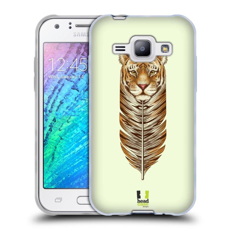 Silikonové pouzdro na mobil Samsung Galaxy J1 HEAD CASE PÍRKO TYGR (Silikonový kryt či obal na mobilní telefon Samsung Galaxy J1 a J1 Duos)