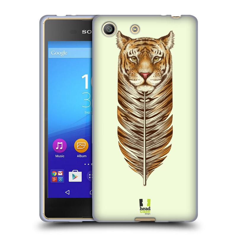 Silikonové pouzdro na mobil Sony Xperia M5 HEAD CASE PÍRKO TYGR (Silikonový kryt či obal na mobilní telefon Sony Xperia M5 Dual SIM / Aqua)