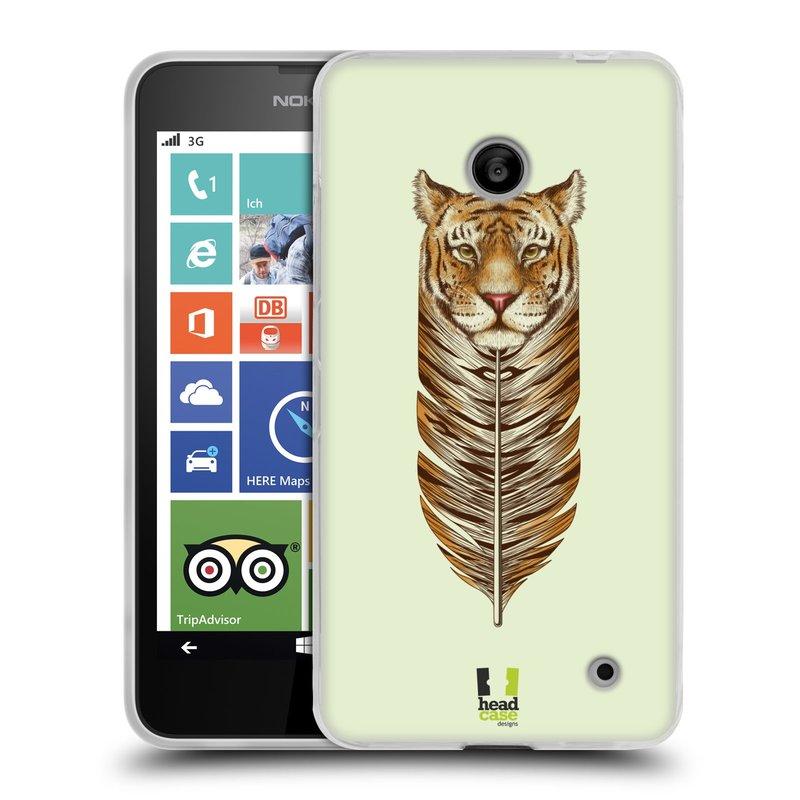 Silikonové pouzdro na mobil Nokia Lumia 630 HEAD CASE PÍRKO TYGR (Silikonový kryt či obal na mobilní telefon Nokia Lumia 630 a Nokia Lumia 630 Dual SIM)