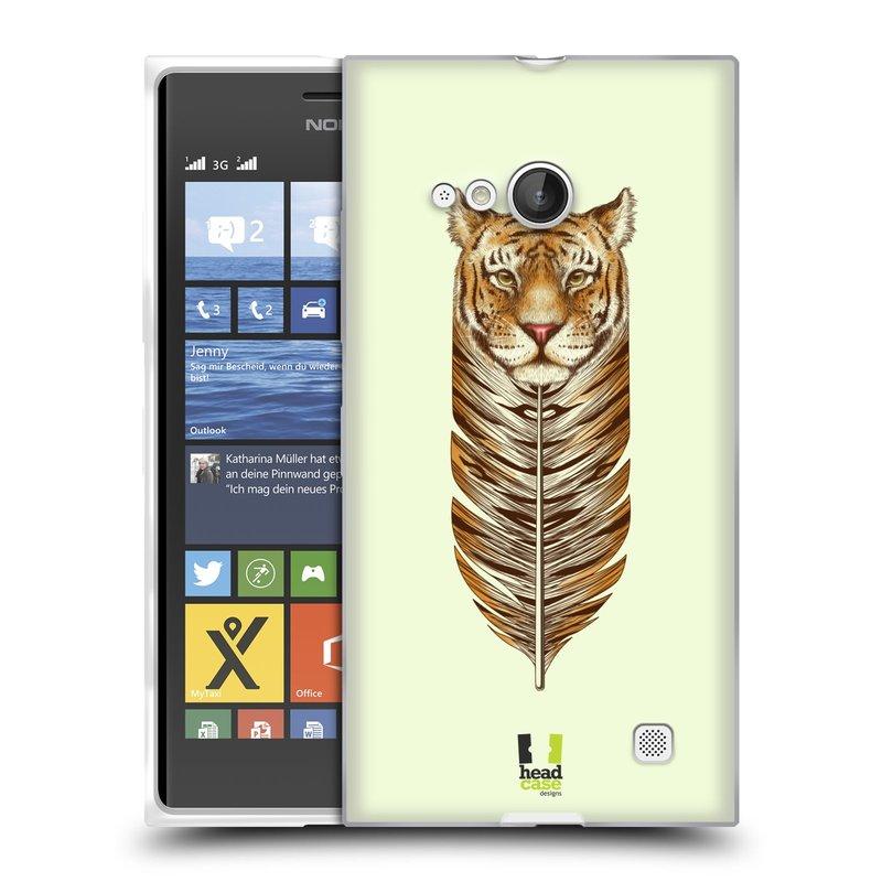 Silikonové pouzdro na mobil Nokia Lumia 730 Dual SIM HEAD CASE PÍRKO TYGR (Silikonový kryt či obal na mobilní telefon Nokia Lumia 730 Dual SIM)