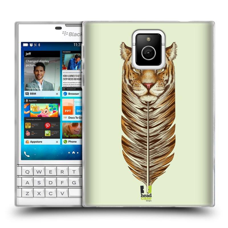 Silikonové pouzdro na mobil Blackberry PASSPORT HEAD CASE PÍRKO TYGR (Silikonový kryt či obal na mobilní telefon Blackberry PASSPORT)