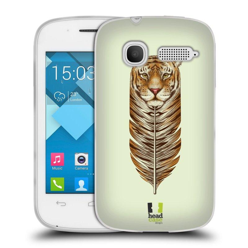 Silikonové pouzdro na mobil Alcatel One Touch Pop C1 HEAD CASE PÍRKO TYGR (Silikonový kryt či obal na mobilní telefon Alcatel OT-4015D POP C1)