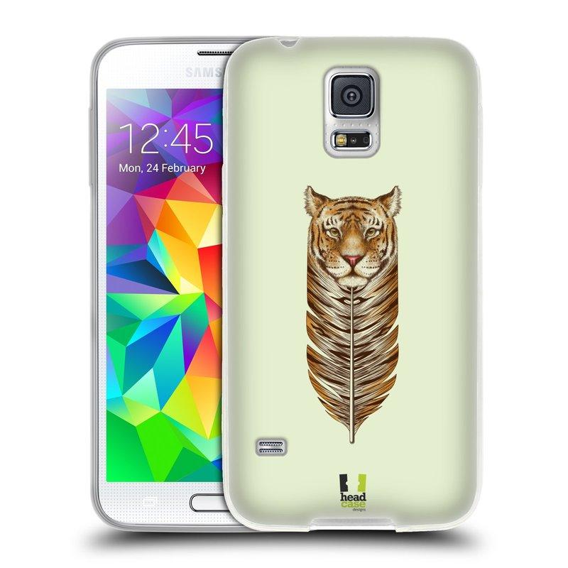 Silikonové pouzdro na mobil Samsung Galaxy S5 HEAD CASE PÍRKO TYGR (Silikonový kryt či obal na mobilní telefon Samsung Galaxy S5 SM-G900F)