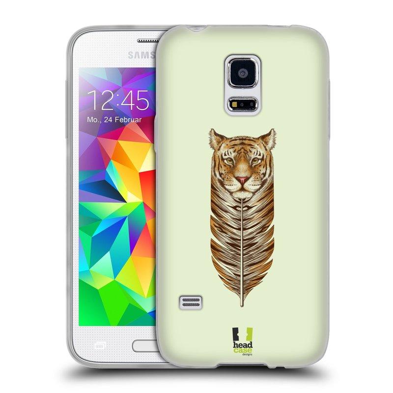 Silikonové pouzdro na mobil Samsung Galaxy S5 Mini HEAD CASE PÍRKO TYGR (Silikonový kryt či obal na mobilní telefon Samsung Galaxy S5 Mini SM-G800F)