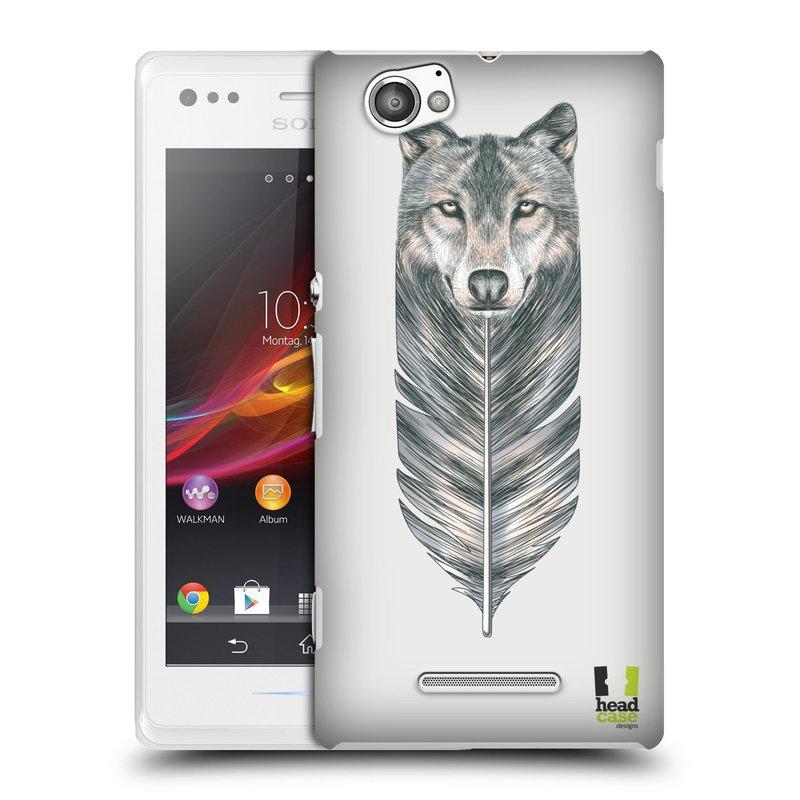 Plastové pouzdro na mobil Sony Xperia M C1905 HEAD CASE PÍRKO VLK (Kryt či obal na mobilní telefon Sony Xperia M a M Dual)