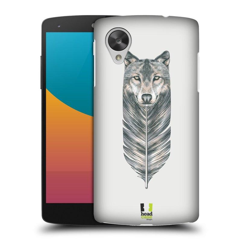 Plastové pouzdro na mobil LG Nexus 5 HEAD CASE PÍRKO VLK (Kryt či obal na mobilní telefon LG Google Nexus 5 D821)