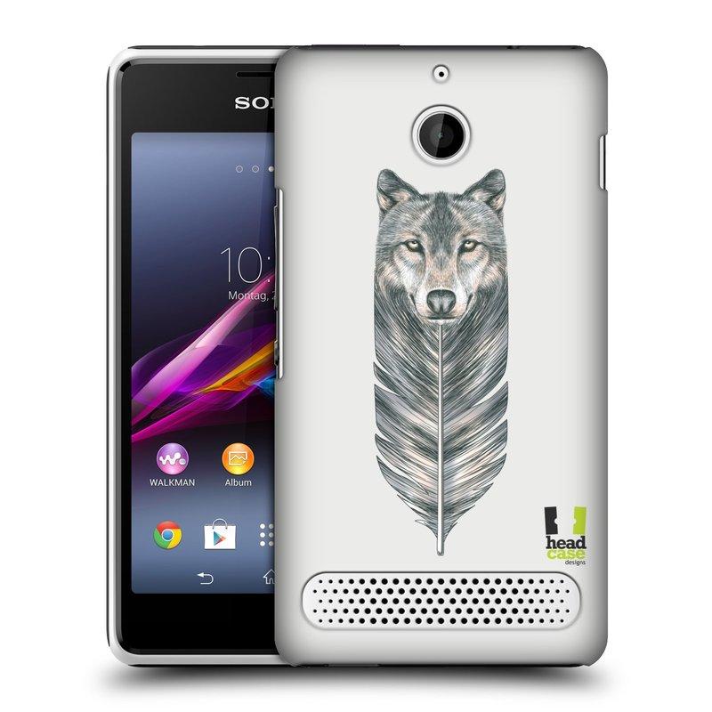 Plastové pouzdro na mobil Sony Xperia E1 D2005 HEAD CASE PÍRKO VLK (Kryt či obal na mobilní telefon Sony Xperia E1 a E1 Dual )