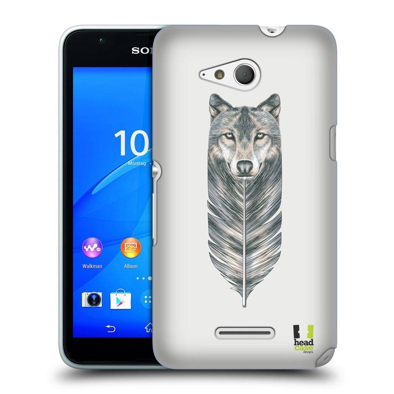 Plastové pouzdro na mobil Sony Xperia E4g E2003 HEAD CASE PÍRKO VLK (Kryt či obal na mobilní telefon Sony Xperia E4g a E4g Dual SIM)