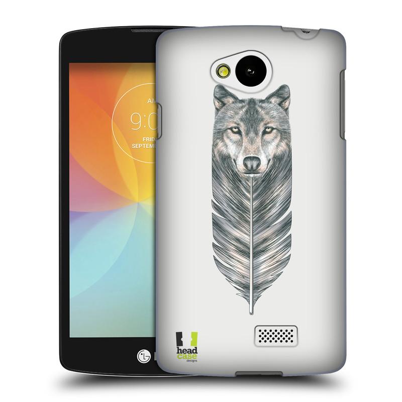 Plastové pouzdro na mobil LG F60 HEAD CASE PÍRKO VLK (Kryt či obal na mobilní telefon LG F60 D390n)