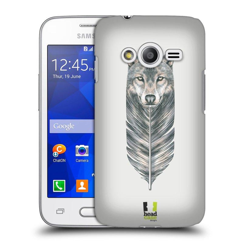 Plastové pouzdro na mobil Samsung Galaxy Trend 2 Lite HEAD CASE PÍRKO VLK (Kryt či obal na mobilní telefon Samsung Galaxy Trend 2 Lite SM-G318)