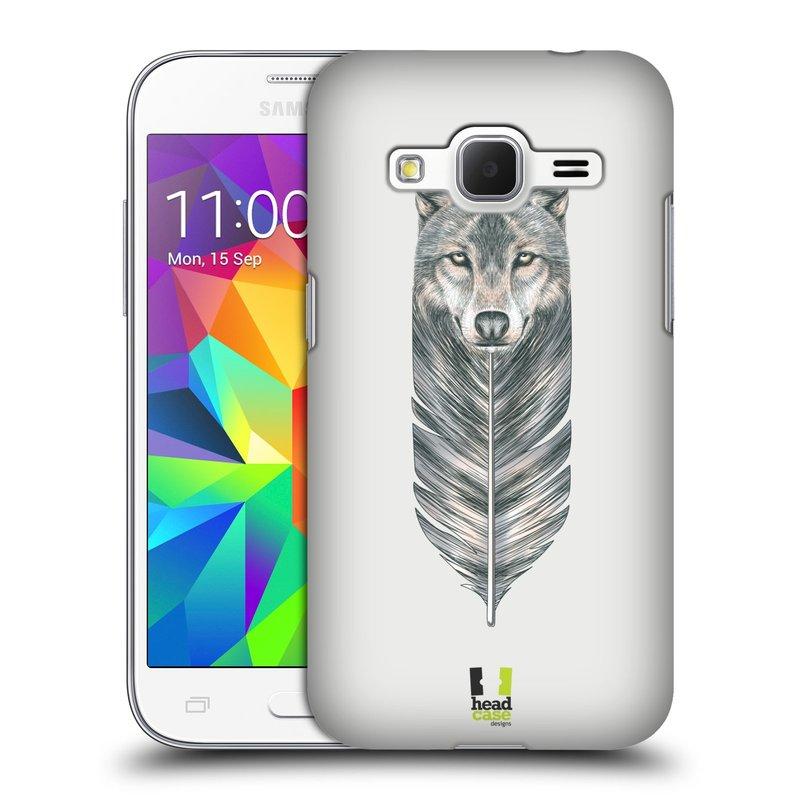 Plastové pouzdro na mobil Samsung Galaxy Core Prime LTE HEAD CASE PÍRKO VLK (Kryt či obal na mobilní telefon Samsung Galaxy Core Prime LTE SM-G360)