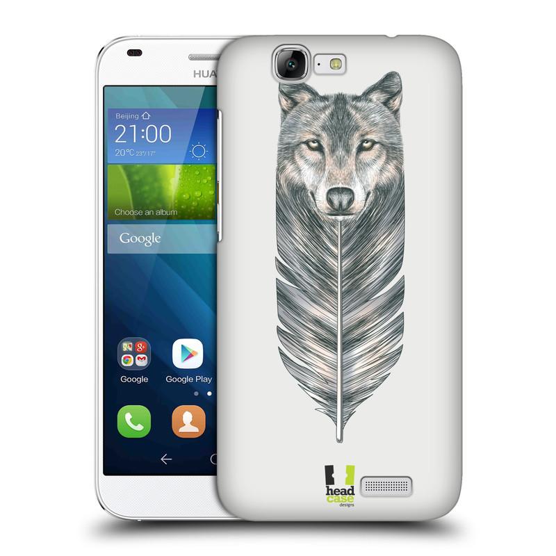 Plastové pouzdro na mobil Huawei Ascend G7 HEAD CASE PÍRKO VLK (Kryt či obal na mobilní telefon Huawei Ascend G7)