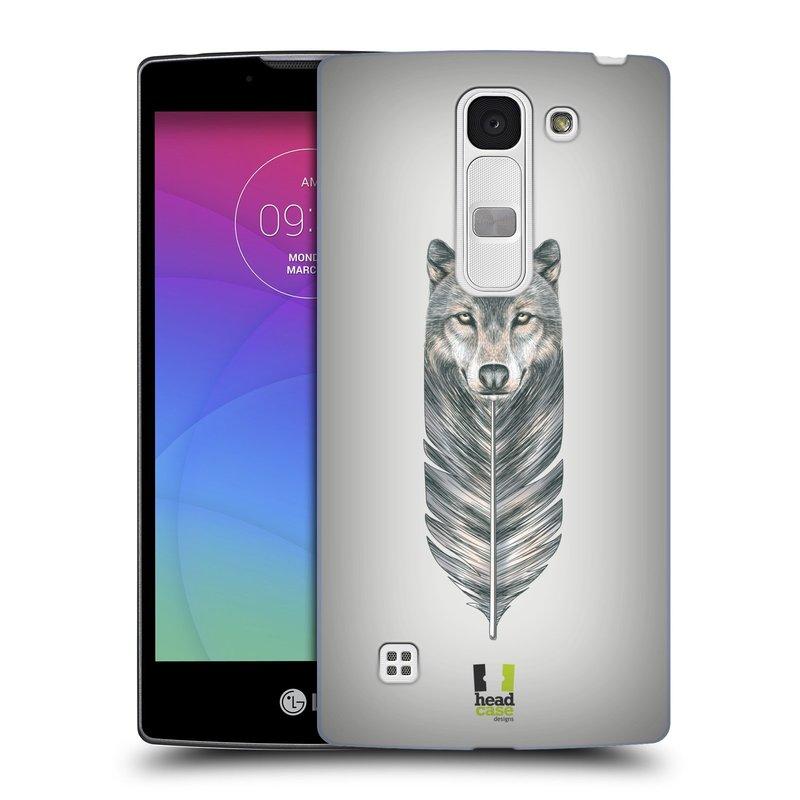 Plastové pouzdro na mobil LG Spirit LTE HEAD CASE PÍRKO VLK (Kryt či obal na mobilní telefon LG Spirit H420 a LG Spirit LTE H440N)