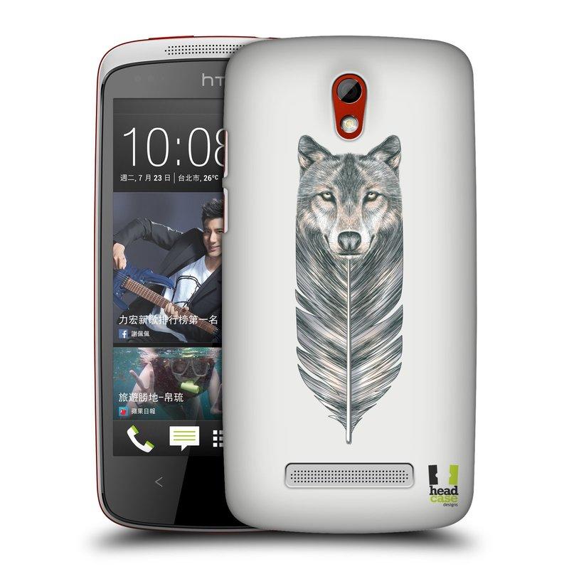 Plastové pouzdro na mobil HTC Desire 500 HEAD CASE PÍRKO VLK (Kryt či obal na mobilní telefon HTC Desire 500)
