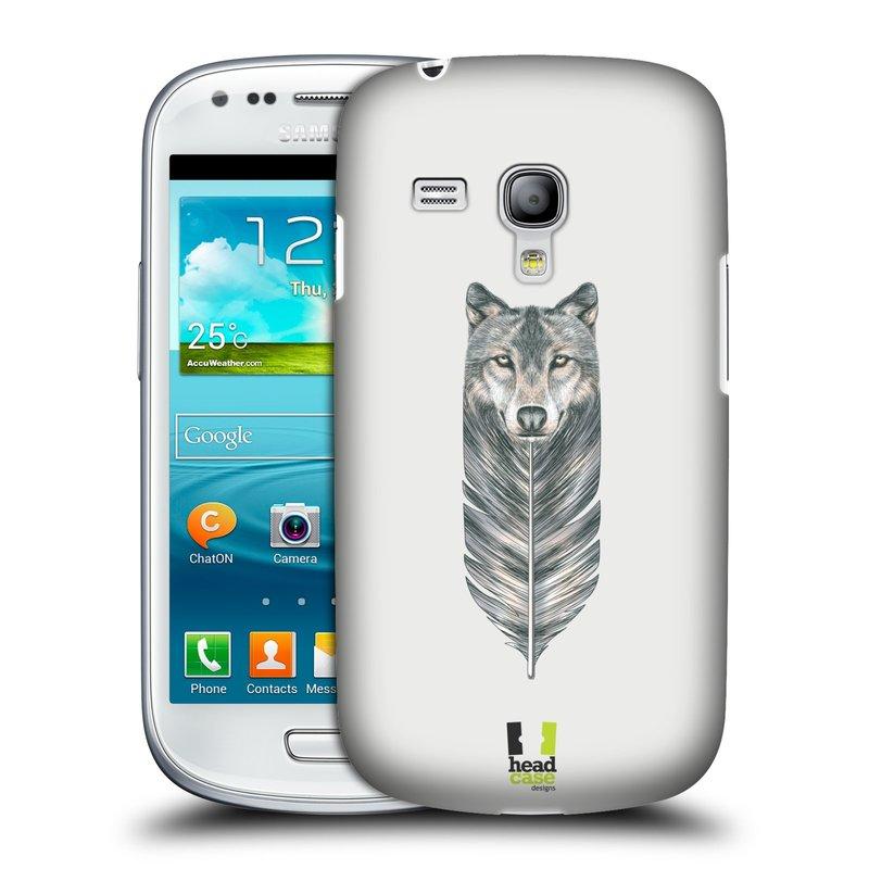 Plastové pouzdro na mobil Samsung Galaxy S III Mini HEAD CASE PÍRKO VLK (Kryt či obal na mobilní telefon Samsung Galaxy S III Mini GT-i8190)