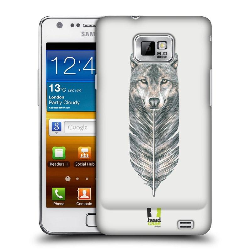 Plastové pouzdro na mobil Samsung Galaxy S II HEAD CASE PÍRKO VLK (Kryt či obal na mobilní telefon Samsung Galaxy S II GT-i9100)