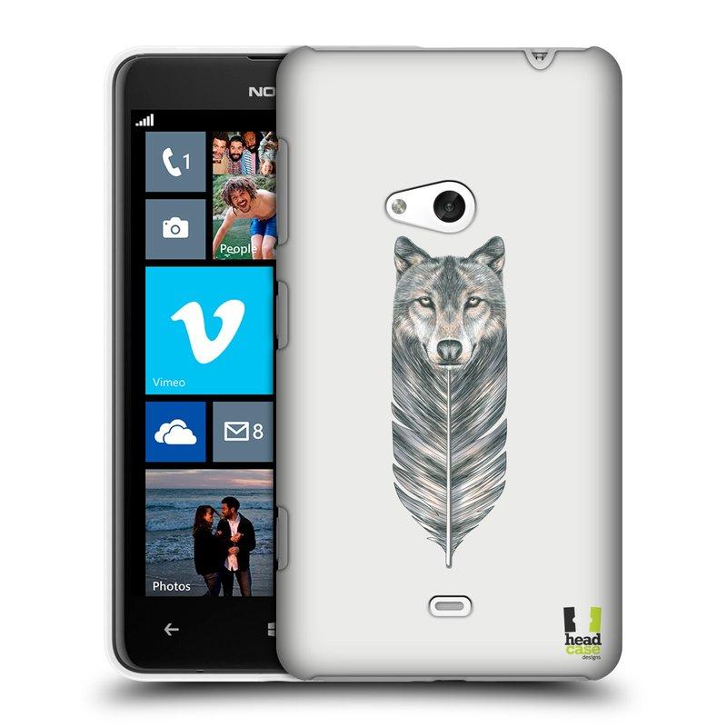 Plastové pouzdro na mobil Nokia Lumia 625 HEAD CASE PÍRKO VLK (Kryt či obal na mobilní telefon Nokia Lumia 625)