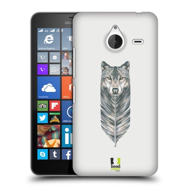 Plastové pouzdro na mobil Microsoft Lumia 640 XL HEAD CASE PÍRKO VLK (Kryt či obal na mobilní telefon Microsoft Lumia 640 XL)