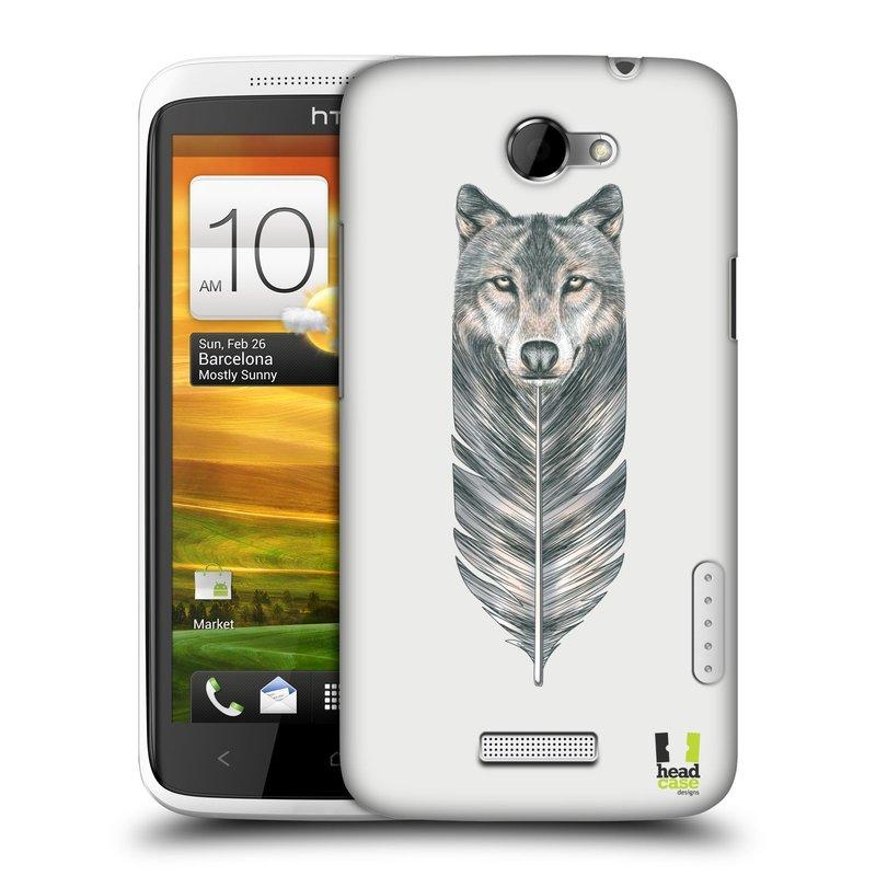 Plastové pouzdro na mobil HTC ONE X HEAD CASE PÍRKO VLK (Kryt či obal na mobilní telefon HTC ONE X)