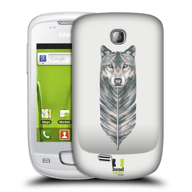 Plastové pouzdro na mobil Samsung Galaxy Mini HEAD CASE PÍRKO VLK (Kryt či obal na mobilní telefon Samsung Galaxy Mini GT-S5570 / GT-S5570i)